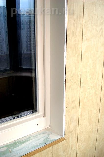 Установка панелей на балконе