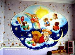 Детская комната, роспись панно