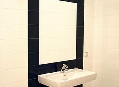 Легкий стиль ванной комнаты для трехкомнатной квартиры
