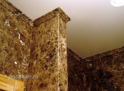 Ванная, мраморная плитка