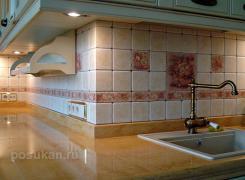 фартук из плитки на кухне