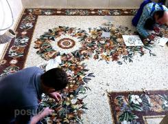 Художественное панно из мраморной мозаики