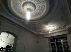 В процессе работ потолок гостиная Б