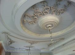 В процессе работ потолок гостиная А