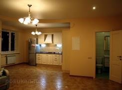 Гостиная вид на кухню